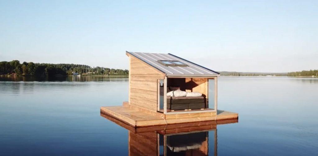 cabana-flotante-en-un-lago-suecia